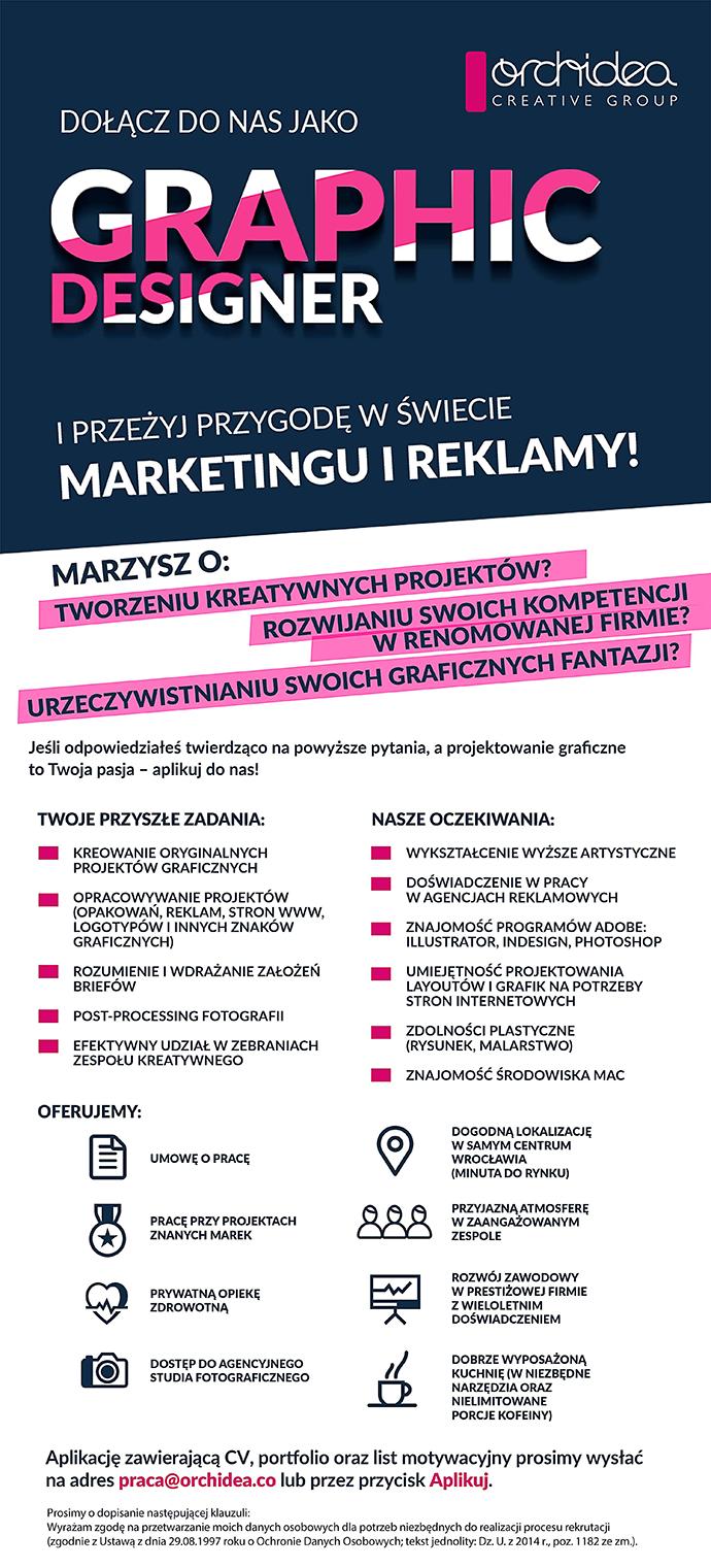 Praca Graphic Designer Wrocław Dolnośląskie Pracujpl