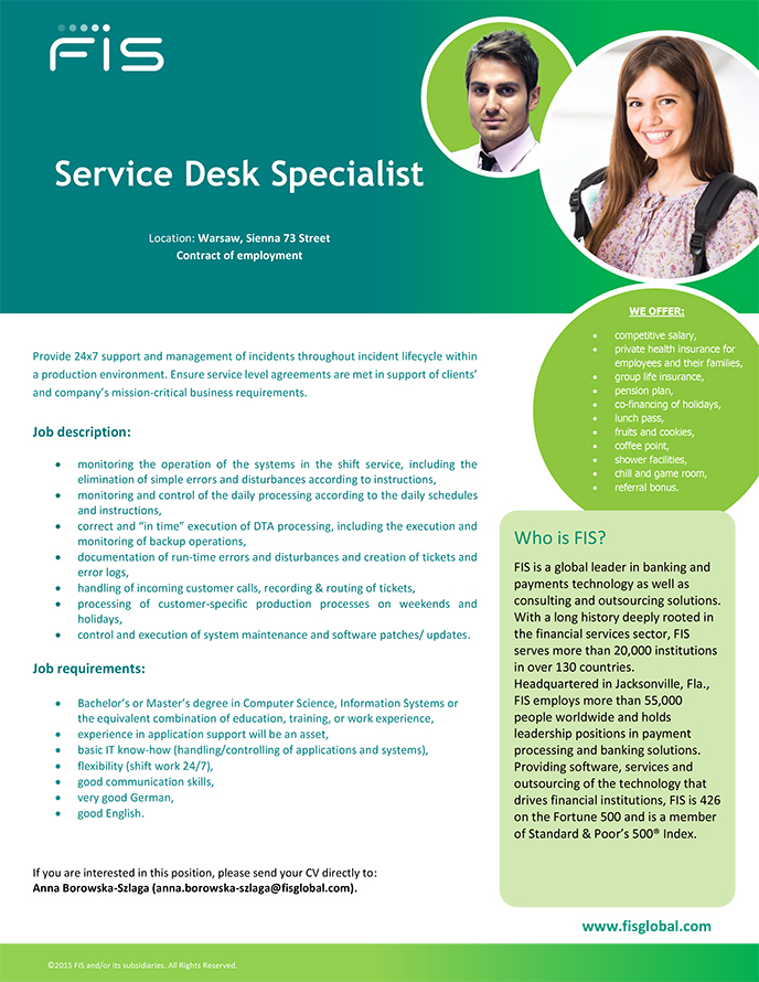it helpdesk job description Help desk service description 28/08/2007 2 • helpdesk with resolution packs or single resolutions • dell will use commercially reasonable efforts to provide the following helpdesk service for the duration of the.