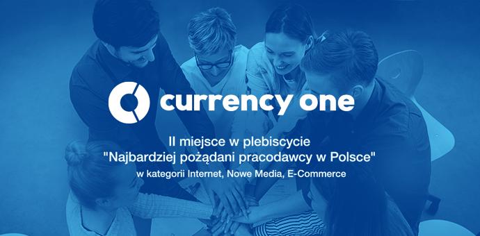 currency one - II miejsce w plebiscycie Najbardziej pożądani pracodawcy w Polse