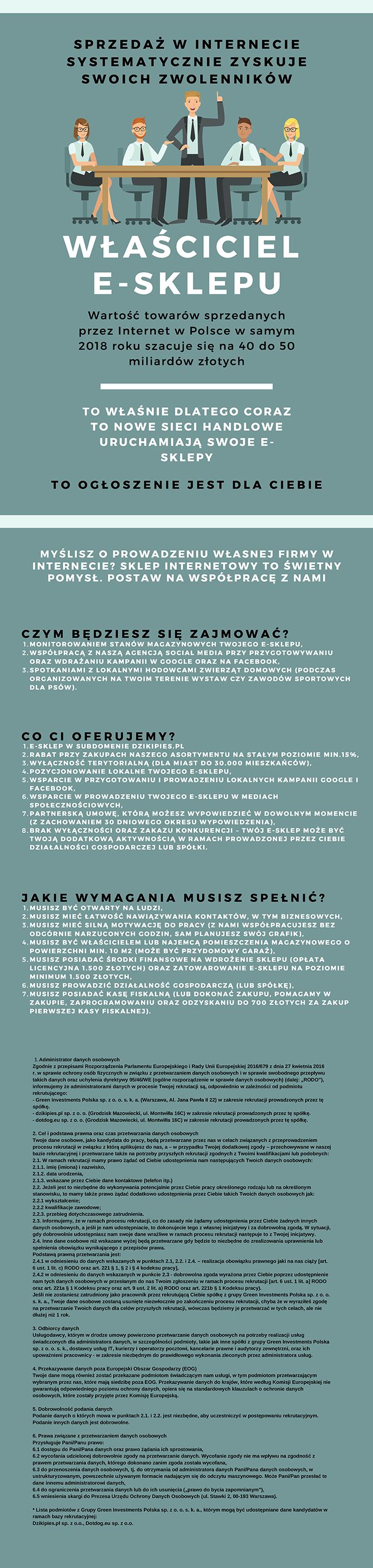 Praca Właściciel e-sklepu, Tuchola, Sępólno Krajeńskie